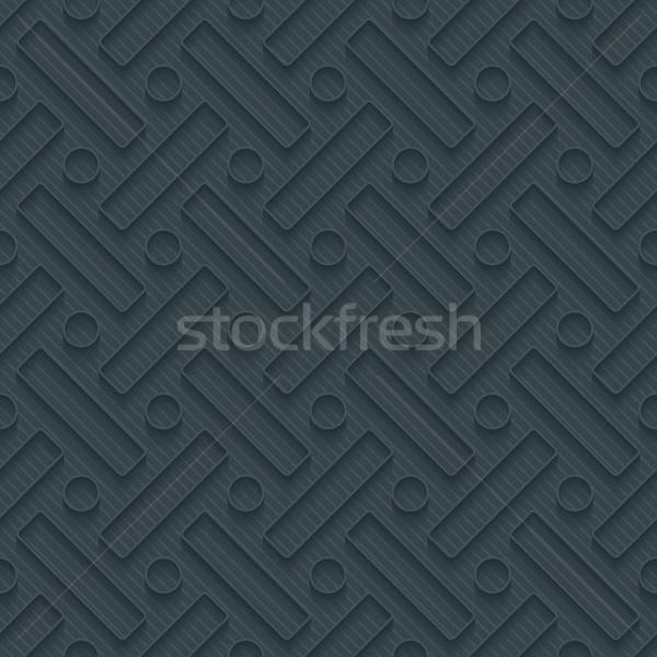 Dark perforated paper with outline extrude effect. Stock photo © almagami