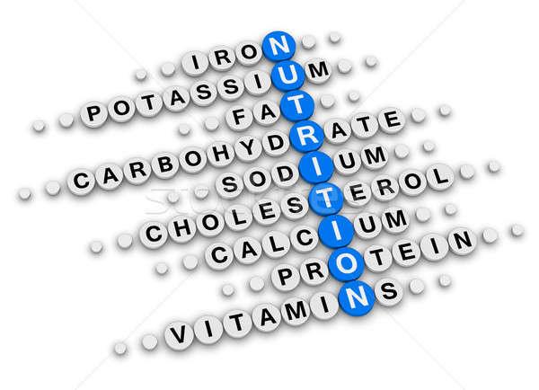 питание данные кроссворд головоломки продовольствие фитнес Сток-фото © almagami