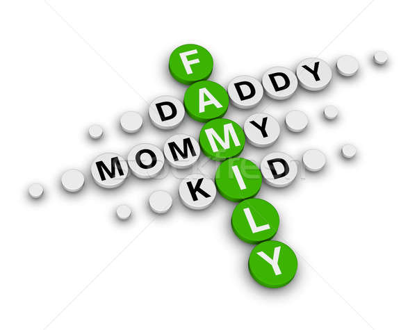 Stock photo: family crossword