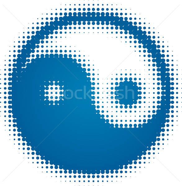 Yin yang szimbólum absztrakt jóga szín digitális Stock fotó © almagami