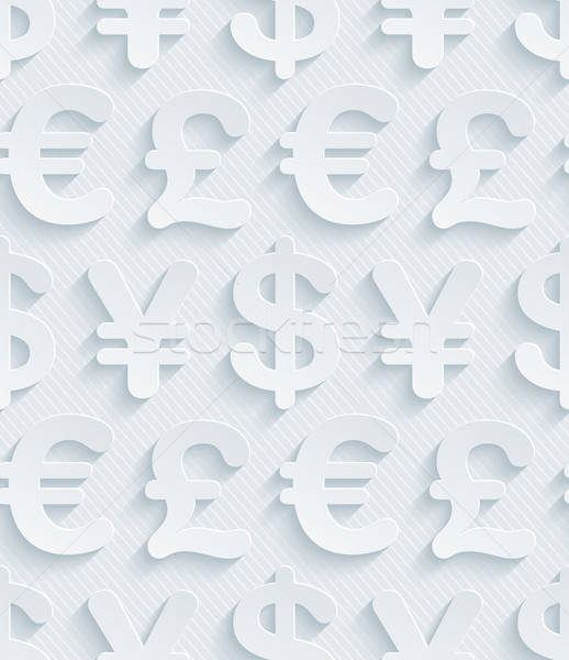 Light gray currency symbols wallpaper. Stock photo © almagami