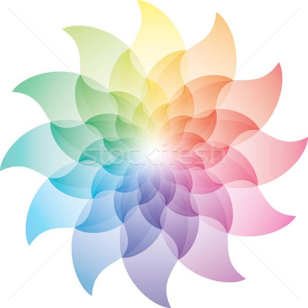 Beautiful Lotus Flower Color Wheel Icon. Stock photo © almagami