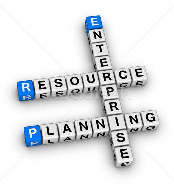 Empresa recurso planejamento palavras cruzadas quebra-cabeça negócio Foto stock © almagami