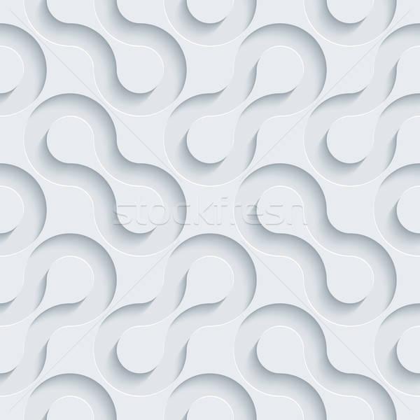 Biały papieru efekt streszczenie 3D Zdjęcia stock © almagami