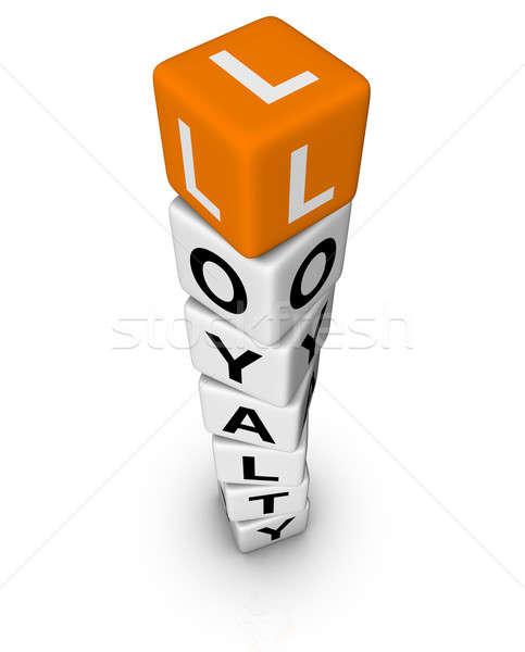 Müşteri 3D bulmaca turuncu iş altın Stok fotoğraf © almagami