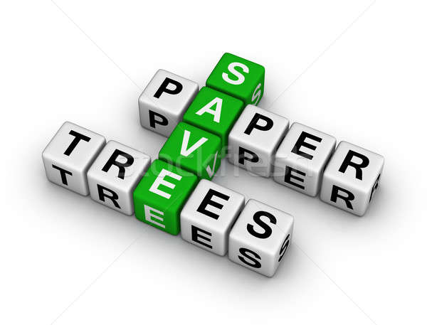 Save Paper, Save Trees Stock photo © almagami
