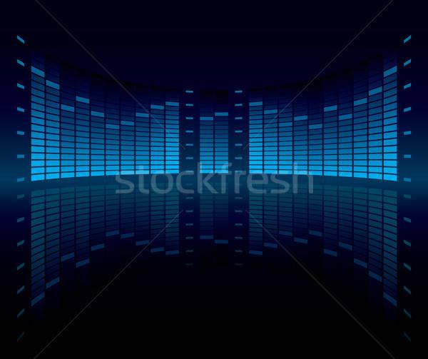 эквалайзер графических отображения вектора музыку Сток-фото © almagami