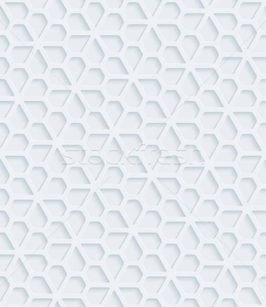 Branco papel efeito abstrato 3D Foto stock © almagami