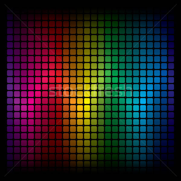 Abstract spectrum vector muziek dans Stockfoto © almagami