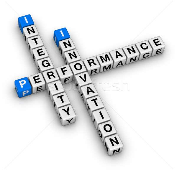 Stok fotoğraf: Yenilik · performans · bulmaca · bilmece · iş · başarı