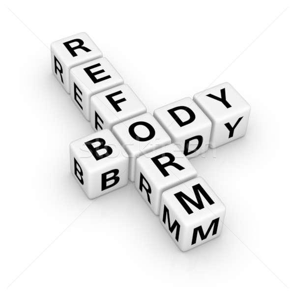 Corpo riforma segno 3D cruciverba Foto d'archivio © almagami