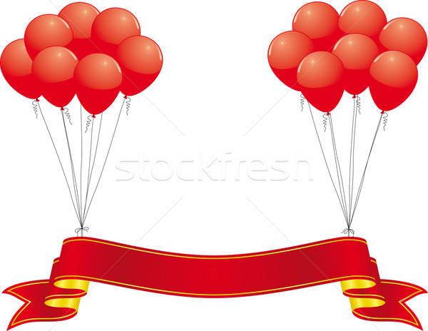 Stockfoto: Viering · banner · bruiloft · verjaardag · achtergrond · frame