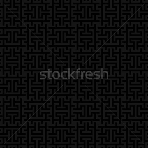 Black Squares Modern Seamless Pattern. Stock photo © almagami