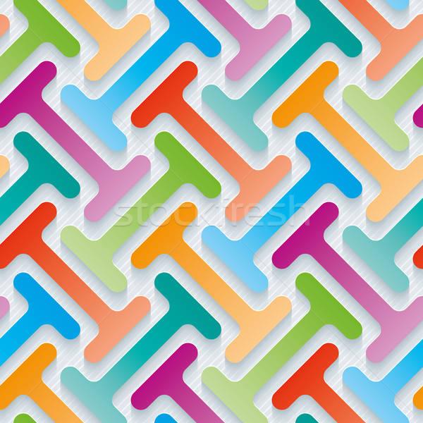3D wallpaper effet vecteur Photo stock © almagami