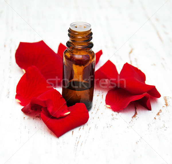 rose flower petals with aromatherapy essential oil Stock photo © almaje