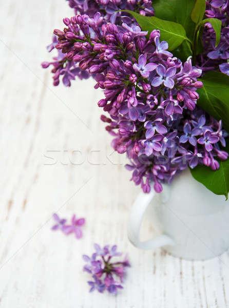 Foto stock: Lila · flores · edad · árbol · naturaleza