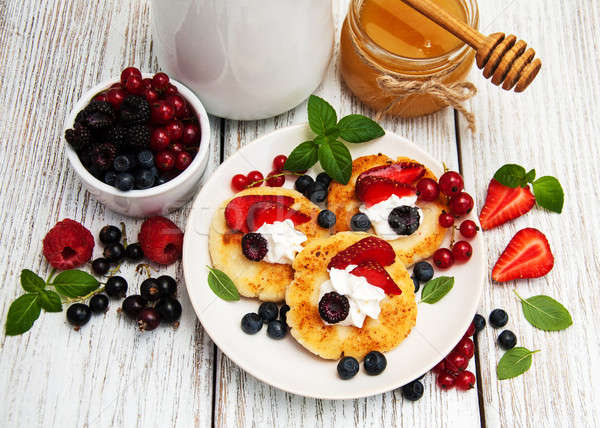 cottage cheese pancake with berries Stock photo © almaje
