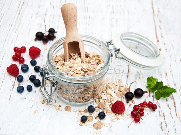 breakfast with fresh berries Stock photo © almaje