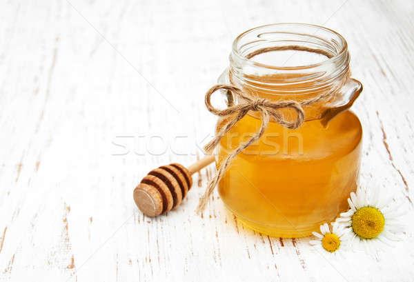 Jar miel manzanilla edad naturaleza Foto stock © almaje