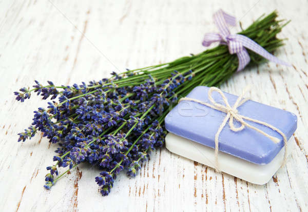 Lavender with soap Stock photo © almaje