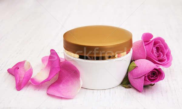 Rosas rosa flor cara Foto stock © almaje