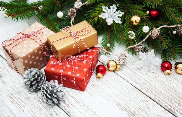 Christmas gift boxes Stock photo © almaje