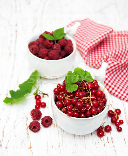 red currant and raspberries Stock photo © almaje