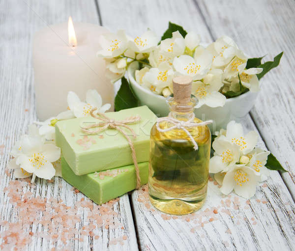 Spa concept with jasmine flowers Stock photo © almaje