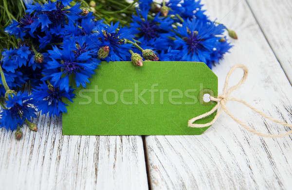 Papír címke születésnap háttér keret szépség Stock fotó © almaje