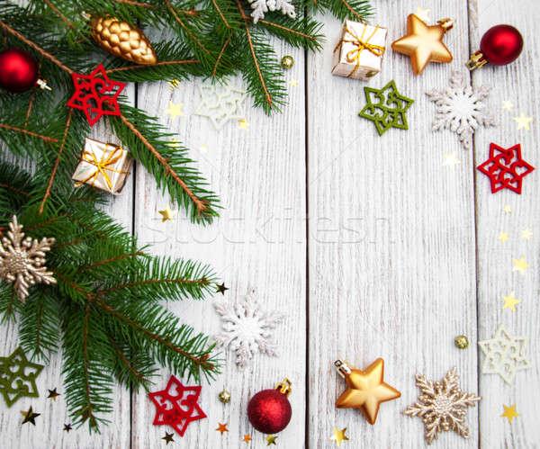 Navidad decoración mesa invierno Foto stock © almaje
