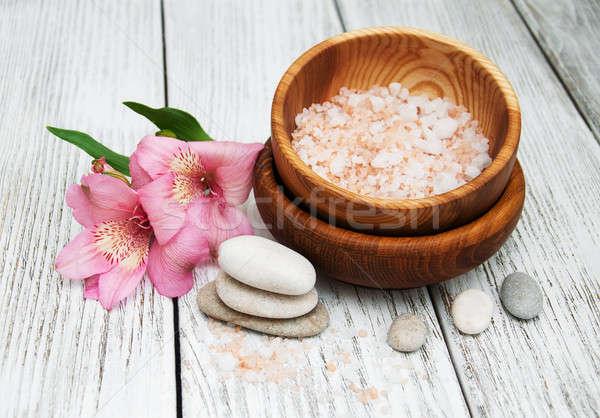 Spa цветы морем здоровья фон Сток-фото © almaje