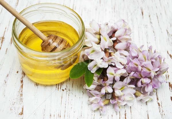 honey with acacia blossoms Stock photo © almaje