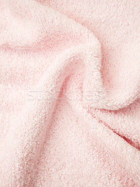 Rosa bano mullido toalla tejido color Foto stock © almaje