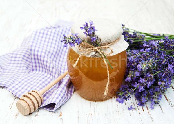 Foto stock: Mel · lavanda · flores · velho · saúde