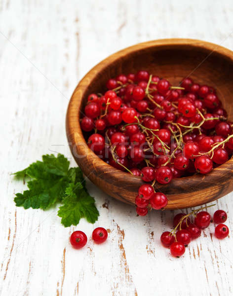fresh red currant Stock photo © almaje