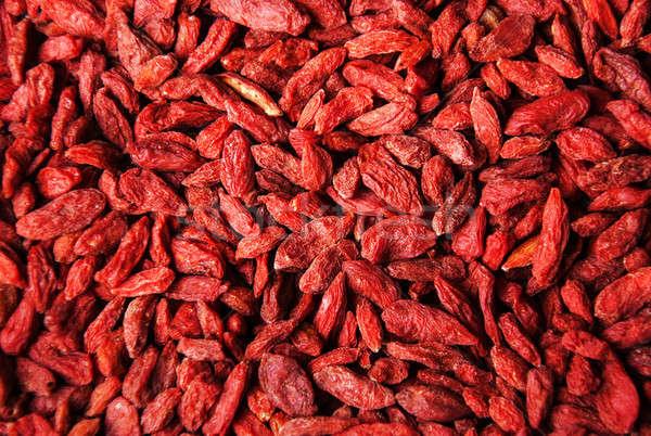 Secas vermelho baga fruto medicina Foto stock © almaje