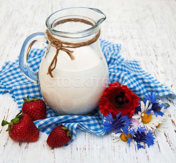 Jug  of milk Stock photo © almaje