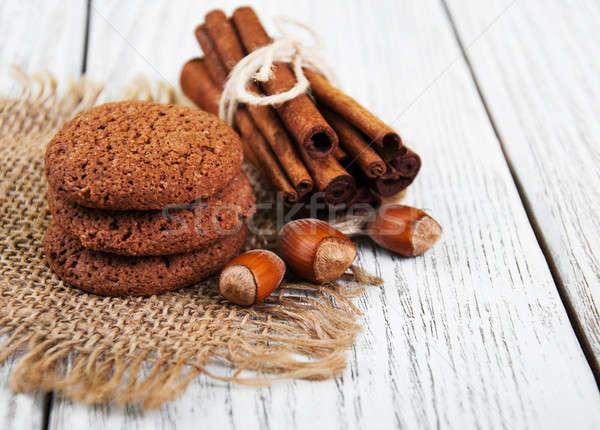 healthy oatmeal cookies Stock photo © almaje