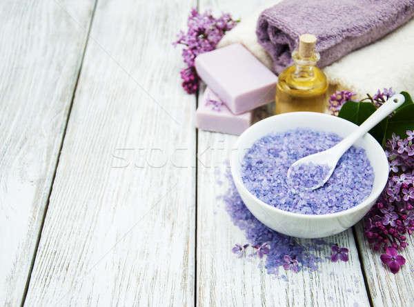 Сток-фото: Spa · сирень · цветы · массаж · продукции · здоровья