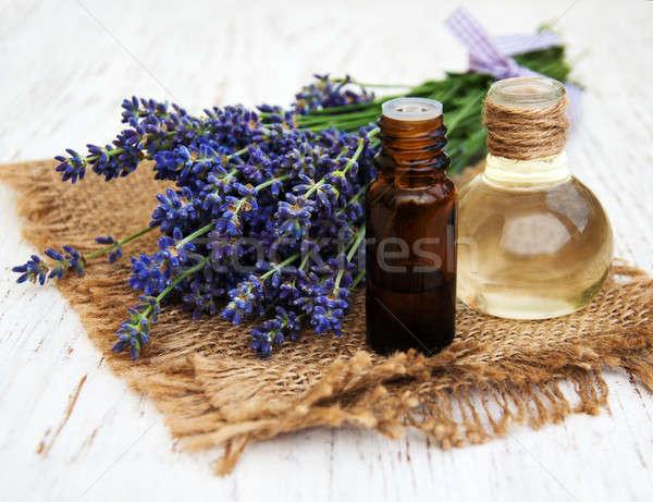 Lavender and massage oil Stock photo © almaje