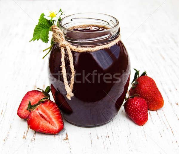 Fresa atasco frescos fresas alimentos Foto stock © almaje