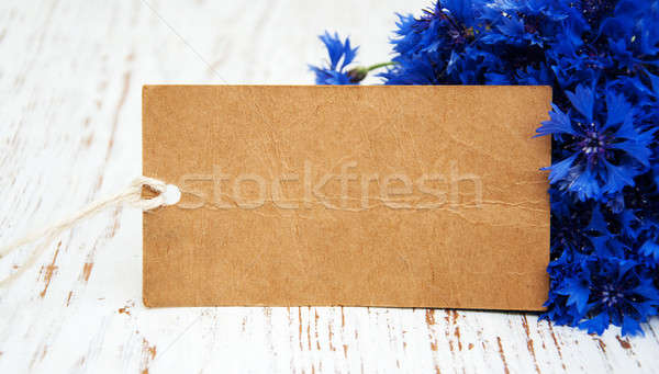 Cornflowers and card Stock photo © almaje