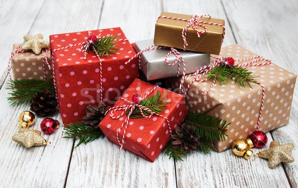 Сток-фото: Рождества · шкатулке · украшения · снега