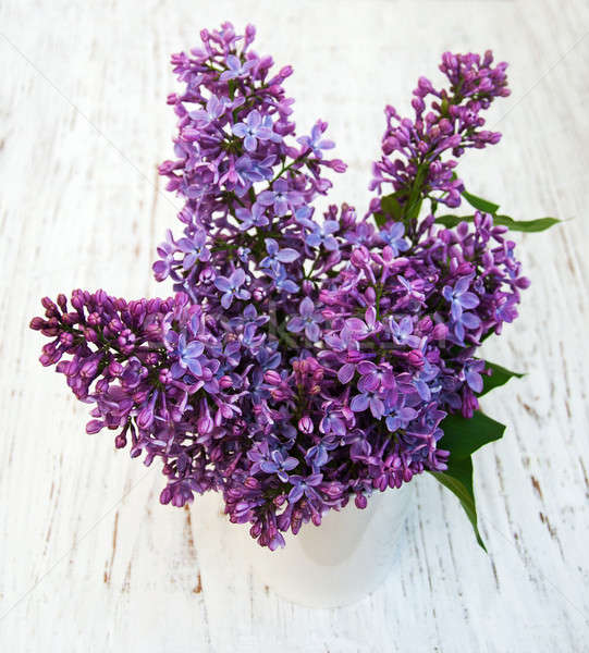 Foto stock: Lila · flores · edad · naturaleza · fondo