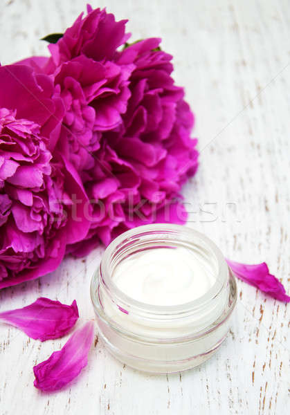 face cream with peonies Stock photo © almaje