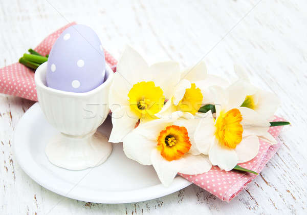 Easter egg in a cup Stock photo © almaje