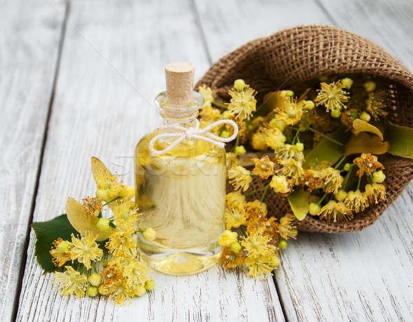 бутылку существенный нефть желтый извести Сток-фото © almaje