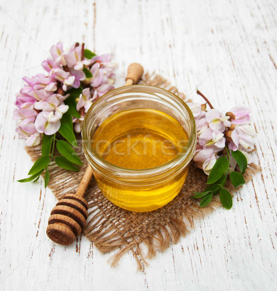 honey with acacia blossoms Stock photo © almaje