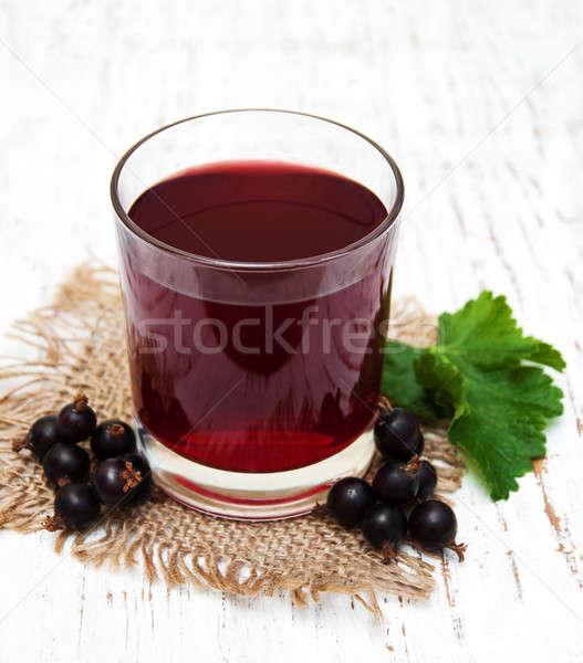 Glass of blackcurrant lemonade Stock photo © almaje