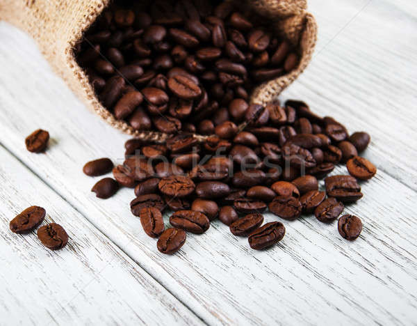 Bag with  coffee beans Stock photo © almaje